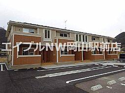 岡山県岡山市北区牟佐の賃貸アパートの外観