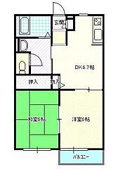 宮城県仙台市太白区上野山2丁目の賃貸アパートの間取り