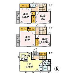 [一戸建] 東京都江戸川区中葛西1丁目 の賃貸【/】の間取り