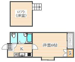 ドリームパレス井尻3番館[1階]の間取り