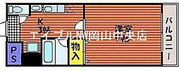 岡山県岡山市南区福成3丁目の賃貸マンションの間取り