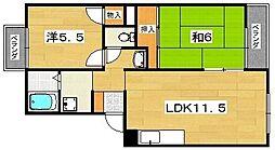 ダブルツリー1番館[1階]の間取り