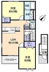 DreamIII[2階]の間取り