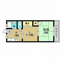 北代ビル[4階]の間取り