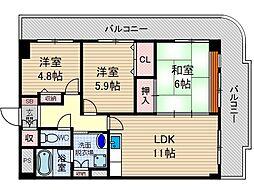 ラフィーネつじ[4階]の間取り