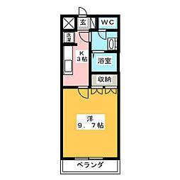 ピュアハート[1階]の間取り