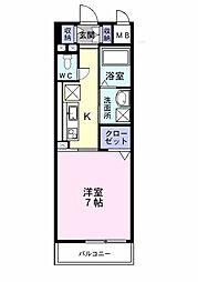 埼玉県春日部市中央1丁目の賃貸マンションの間取り