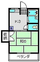 森島ハイツ[203号室]の間取り