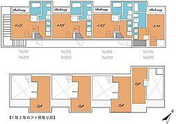 メゾン・ド・横手 2階1Kの間取り