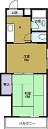 高垣マンション[3階]の間取り