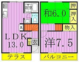 ケッフェル91[203号室]の間取り