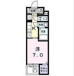 シェモワ八尾[4階]の間取り