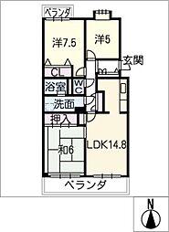 本郷パークマンション 202号[2階]の間取り