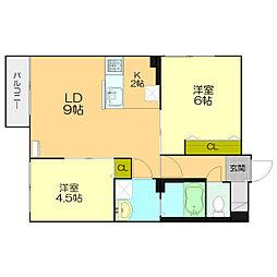 北海道札幌市白石区栄通20丁目の賃貸マンションの間取り