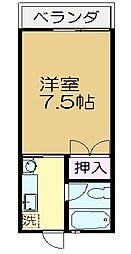 ハイライフ臼井[2階]の間取り