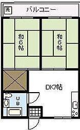 第二押川ビル[305号室]の間取り