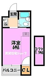 川辺ビル287[3階]の間取り
