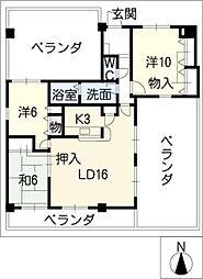 ランドマークII[6階]の間取り