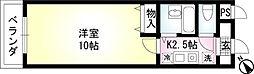 ミリアビタ実籾A棟[A103号室]の間取り