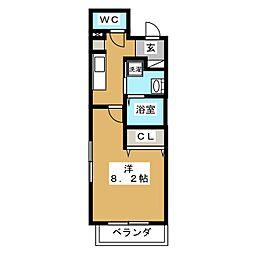 コテージタケダ[5階]の間取り