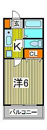 ロジマン蕨Ⅰ[1階]の間取り