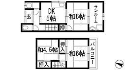 [テラスハウス] 兵庫県伊丹市荒牧南4丁目 の賃貸【/】の間取り