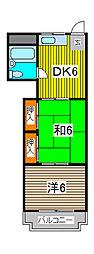 富士見ビル[6階]の間取り