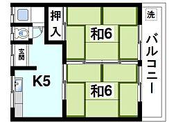 小嶋荘[2階]の間取り