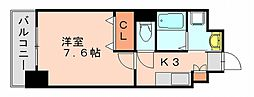 福岡県福岡市博多区板付7丁目の賃貸マンションの間取り