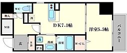 INOYA BLDG RESIDENCE[7階]の間取り