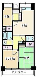 ソレイユ久保[509号室]の間取り