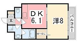 メゾンハピネスII[201号室]の間取り