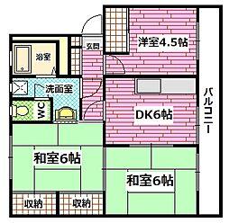 広島県広島市安芸区矢野西1の賃貸マンションの間取り
