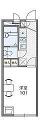 阪急箕面線 箕面駅 徒歩16分の賃貸アパート 1階1Kの間取り