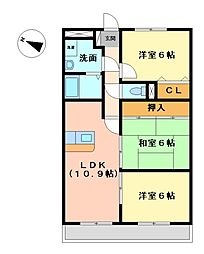ドミールU[1階]の間取り
