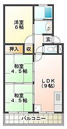 垂水農住団地2号棟[2階]の間取り