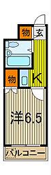 マシャンブル川口[108号室]の間取り