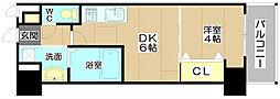 プレステージⅣ芥川[7階]の間取り