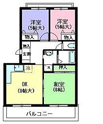 静鉄宮下町マンション[2階]の間取り