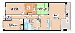 兵庫県神戸市西区井吹台北町1丁目の賃貸マンションの間取り