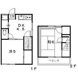 [テラスハウス] 神奈川県座間市入谷4丁目 の賃貸【神奈川県 / 座間市】の間取り
