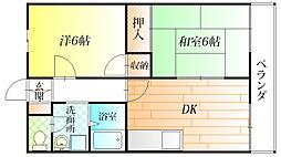 的場ハイツI[2階]の間取り