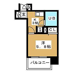 ライオンズマンション新栄第2[2階]の間取り