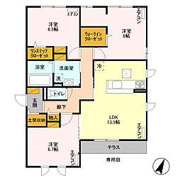 プロスコート II /[1階]の間取り