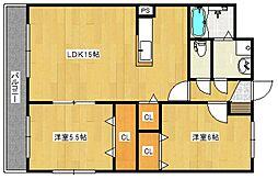 ユーミー山川[305号室号室]の間取り