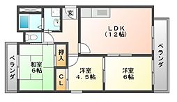 セレーナ喜志参番館I[3階]の間取り