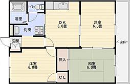 長井マンション[3階]の間取り