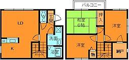 [テラスハウス] 奈良県生駒郡斑鳩町法隆寺1丁目 の賃貸【/】の間取り
