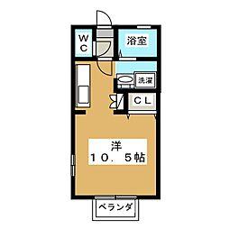 NEWセジュール[1階]の間取り