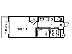 メインステージ六甲[305号室]の間取り